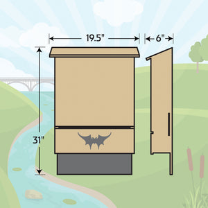 Four-chambered Bat House
