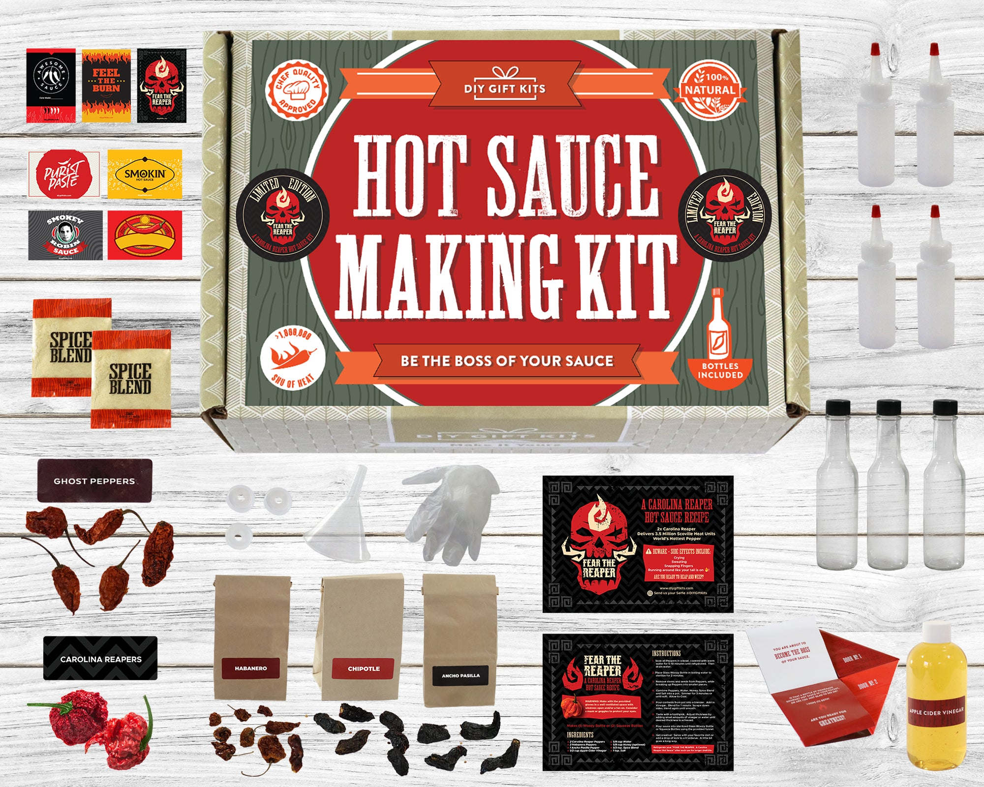 Carolina Reaper Hot Sauce Kit Gift Set