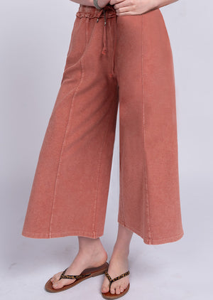 Upside Down Terry Knit Pant