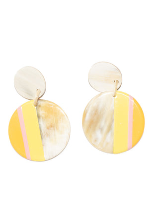 Striped Circle Earring