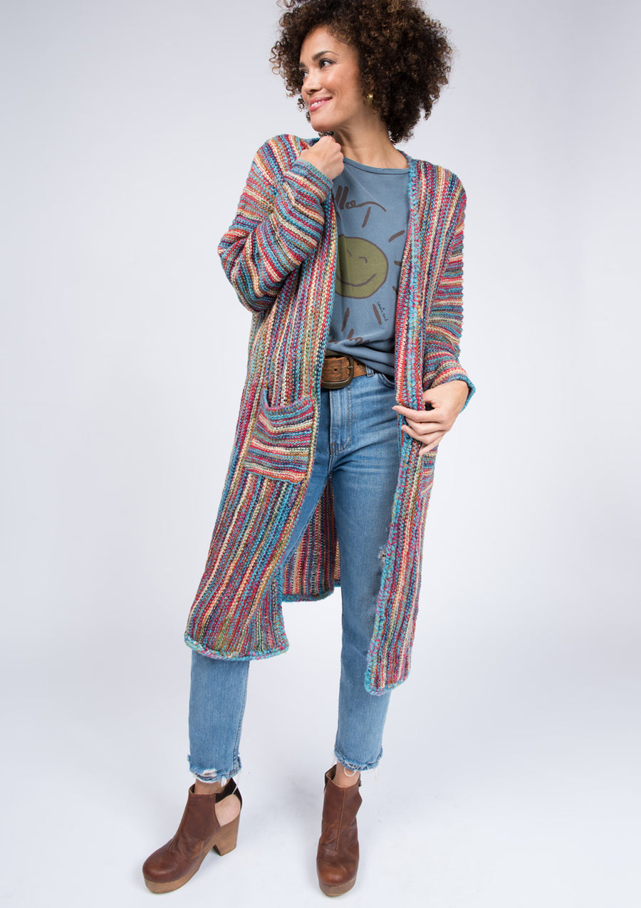 Rainbow Sweater Cardigan