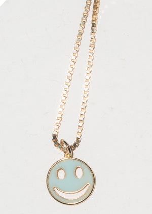 Smiley Necklace LIGHT BLUE
