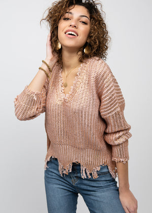 Rose Gold Dusted Sweater