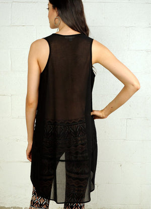 Sleeveless Tunic R6023 black