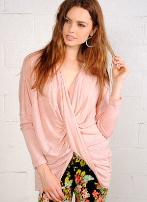 Twist Wrap Top R6044 peach