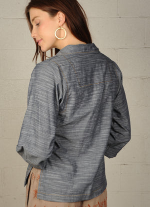 Chambray Blues Top