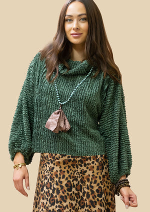 Fuzzy Sweater R6355 GRN