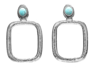 Studded Wanderer Earrings Silver