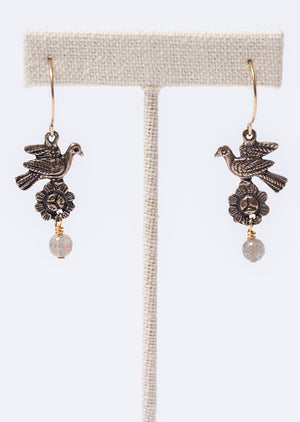 Doves and Jewel Earring