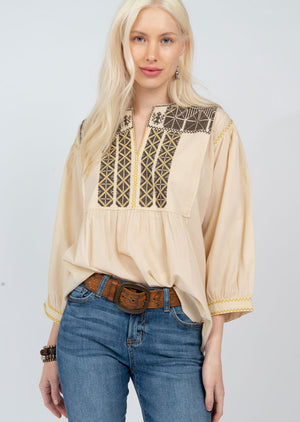 Native Crosstitch Top