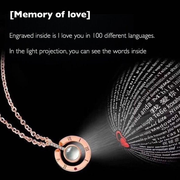 100 Languages - I Love You Necklace - Necklace