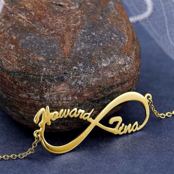 Custom Infinity Necklace - Gold - Necklace