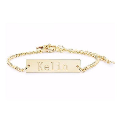 Custom Name Bracelet (Bar) - Bracelets