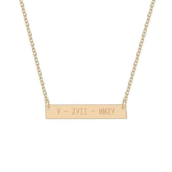 Custom Name Necklace (Bar) - Necklace
