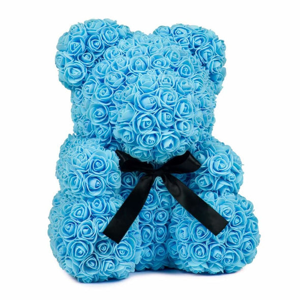 Luxury Rose Bear - Blue