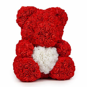 Luxury Rose Bear Limited Edition W/ Heart - Red