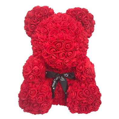 Luxury Rose Bear - Red