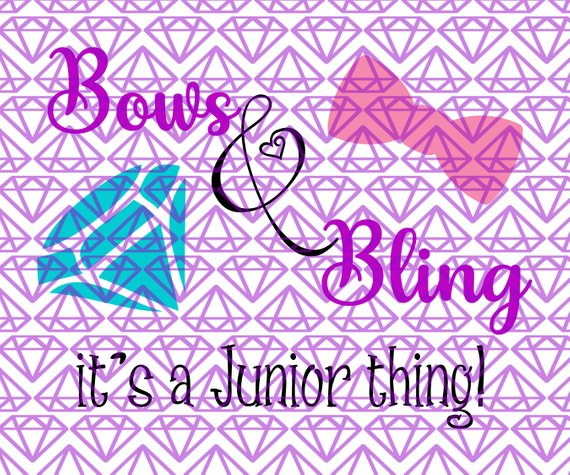 SVG 11th Grade Bows & Bling, Junior Back to School SVG File