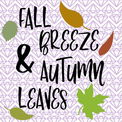 SVG Fall Breeze & Autumn Leaves, Fall SVG File