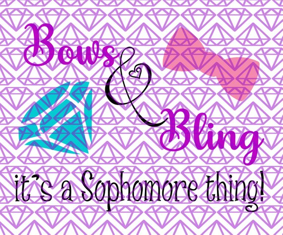 SVG 10th Grade Bows & Bling, Sophomore Back to School SVG File