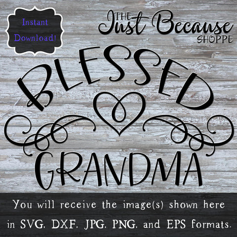 SVG Blessed Grandma, Family SVG File