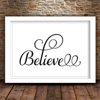 SVG Believe Home Decor Svg Rustic Decor Gallery Wall Svg DIY Sign Christian Svg Uplifting Svg Belief Svg