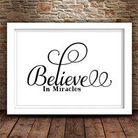 SVG Believe in Miracles Home Decor Svg Rustic Decor Gallery Wall Svg DIY Sign Christian Svg Uplifting Svg Belief Svg