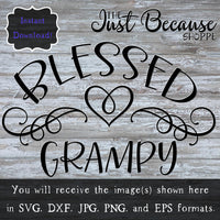 SVG Blessed Grampy, Family SVG File