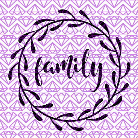 SVG Family Wreath, Gallery Wall SVG File