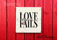 SVG Love Never Fails Patient Kind Knockout Wedding Decor SVG Anniversary Svg Love Svg Rustic Gallery Wall Home DIY Sign Svg Cut File
