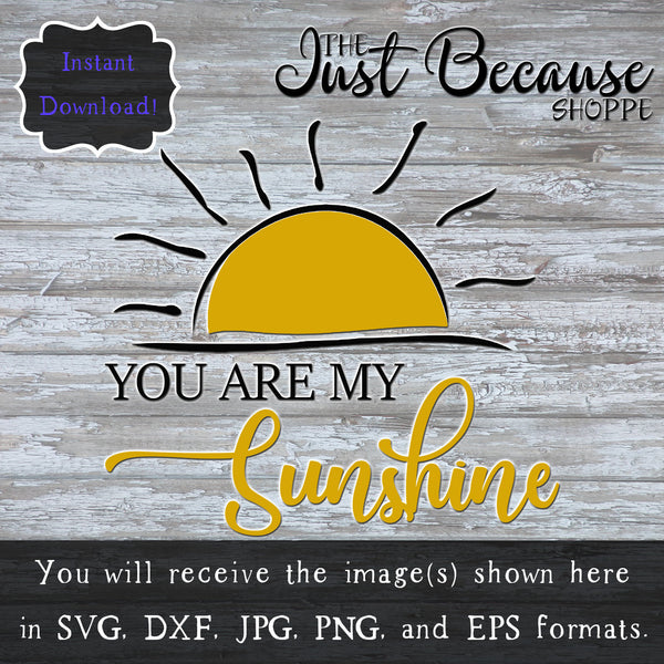 SVG You Are My Sunshine, Nursery Decor Svg, Nursery Rhyme Svg, Baby Shower Gift Svg, Baby Svg, Baby Decor Svg, Nursery DIY, Svg Files