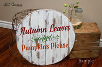 SVG Autumn Leaves & Pumpkins Please, Fall SVG File