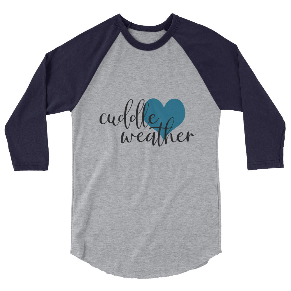 Cuddle Weather Raglan 3/4 Sleeve Shirt, Fall Apparel, Sweater Weather Style Baseball Shirt