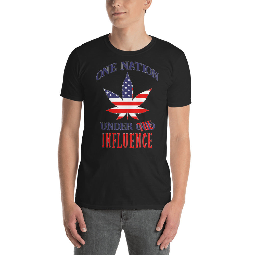 One Nation Under The Influence, Pot Leaf T-Shirt, Unisex Shirt, Cannabis Leaf