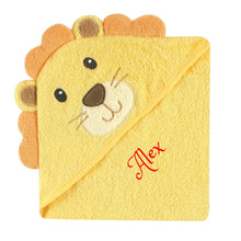 Personalized Hooded Baby Towel- LION