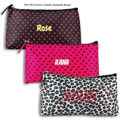 Personalized , Receive a ''Mystery'' Cosmetic Pouch , chosen from our 40 Different designs!