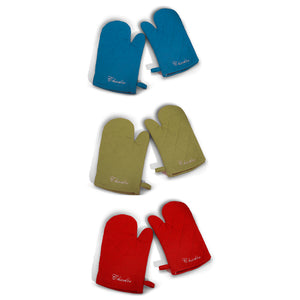 Personalized Oven Mitt set, 3 Colors