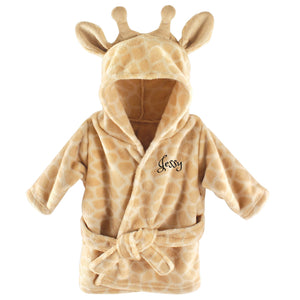 Personalized Plush Baby Bathrobe - GIRAFFE