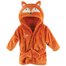 Personalized Plush Baby Bathrobe -FOX