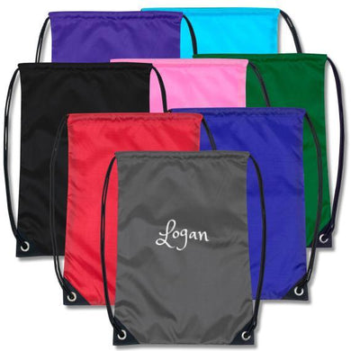 Personalized Drawstring Backpacks - 8 Colors