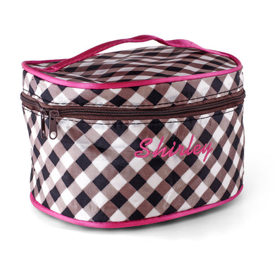 Personalized Cosmetic bag with handle