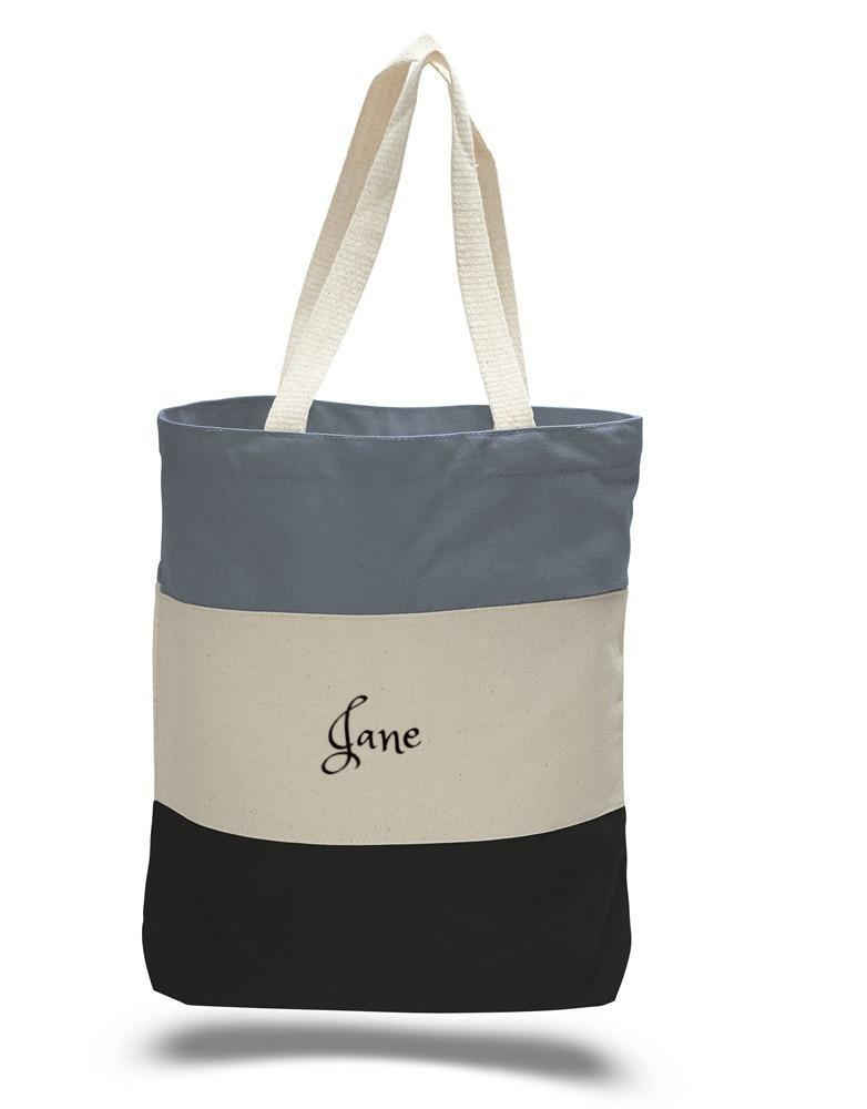 Personalized Premium Bag | Heavy Canvas Tote Bag | - Tri-Color