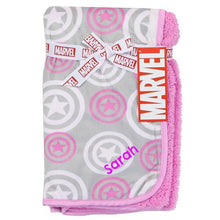 Personalized Captain America /Avengers baby Blanket Pink - MARVEL