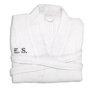 Personalized Men waffle weave robe For Spa & Present