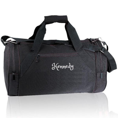 Personalized Sport Gym Roll Duffel Bags -Black