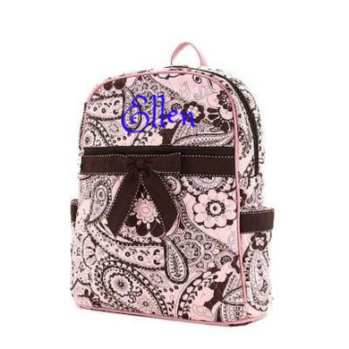 Personalized QUILTED Zippered Backpack | PINK