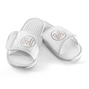 Personalized Waffle Weave Spa/Bath Slippers