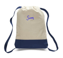 Personalized CANVAS SPORT BACKPACK -3 Colors For Travel /College Bag