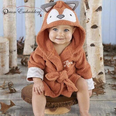 Personalized Baby Bathrobe 2T & 3T -FOX