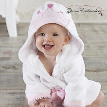 Personalized Baby Bathrobe 2T & 3T -Princess